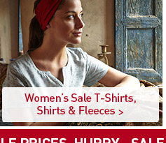 Women's Sale T-Shirts, Shirts & Fleeces. SHOP NOW.