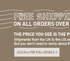 Free Delivery on orders over $75. The price you see is the price you pay. Click here for full details.