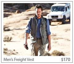 Men's Freight Vest. $170. Buy Now.