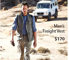 Multi-pocketed and multi-functional, our Freight Vest is the perfect choice for the adventurous world traveller. Men's Freight Vest. $170. Buy Now.