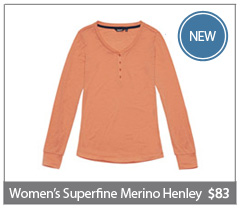 NEW Women's Superfine Merino Henley. $83. Buy now.