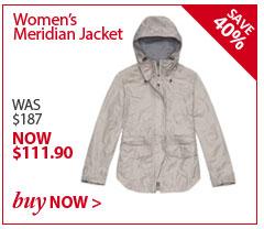 Women's Meridian Jacket. WAS $187. NOW $111.90. BUY NOW.