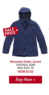 Men's Mountain Guide Jacket. ORIGINAL $280. WAS $181.70. NOW $140. BUY NOW.