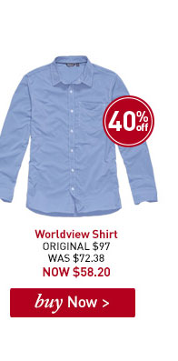 Men's Worldview Shirt. ORIGINAL $97. WAS $72.38. NOW $58.20. BUY NOW.