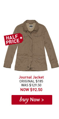 Women's Journal Jacket. ORIGINAL $185. WAS $129.50. NOW $92.50. BUY NOW.