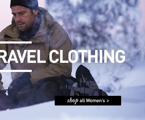 OUTDOOR AND TRAVEL CLOTHING. SHOP All Women's.