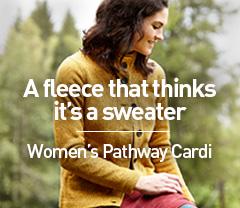 A fleece that thinks it's a sweater. Women's Pathway Cardi.