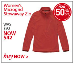 Women's Microgrid Stowaway Zip. WAS $90. NOW $42. SAVE 50% Buy Now.