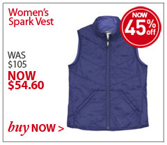 Women's Spark Vest. WAS $105. NOW $54.60. SAVE 45% Buy Now.