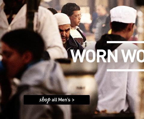 WORN WORLDWIDE. SHOP All Men's.