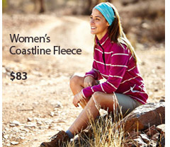 Warm, comfortable and versatile, our Coastline Fleece Top is perfect for outdoors, travel and everyday wear. Women's Coastline Fleece. $83. Buy Now.