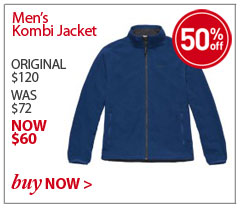 Men's Kombi Jacket. ORIGINAL $120. WAS $72. NOW $60. SAVE 50% Buy Now.