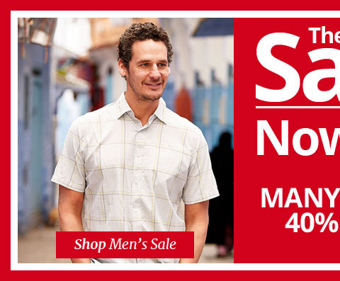 THE SALE. MANY LINES 40% OFF. SHOP All MEN'S SALE..