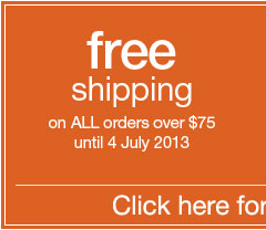 Rohan. Free shipping on ALL orders over &#36;75 until 4 July 2013. Click here for full details.
