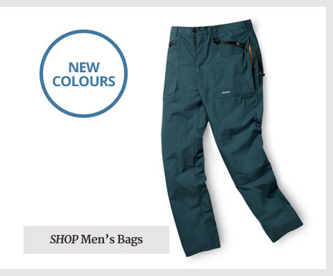 Lightweight Trousers. Heavyweight Thinking. Shop Men's Bags.