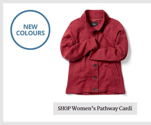 Soft. Clever. Warm. Reliable. It's easy to fall for a Pathway Cardi. Shop Now.