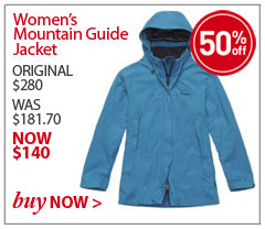 Women's Mountain Guide Jacket. ORIGINAL $280. WAS $181.70. NOW $68.140. SAVE 50% Buy Now.