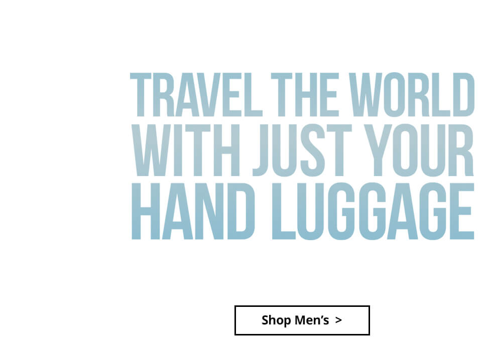 Travel the World with just your hand luggage - View Men's