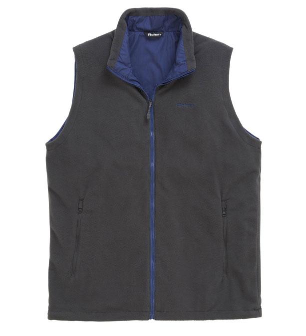 Classic, versatile reversible fleece vest
