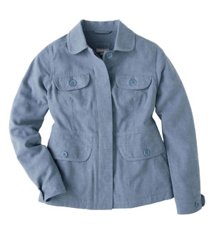 Women's Linen Plus Jacket - Chambray Blue