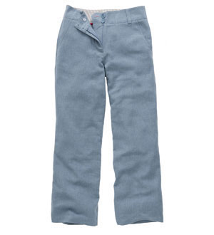 Women's Linen Plus Trousers - Chambray Blue