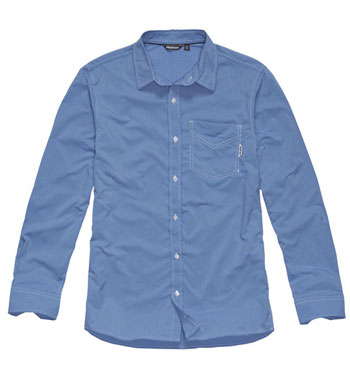 Men's Worldview Shirt - Chalk Blue Stripe