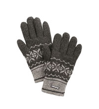 Warm, knitted gloves.