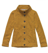 Functional fleece cardigan.