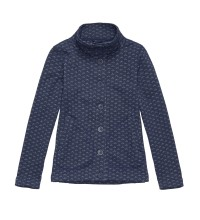 Technical fleece cardigan.