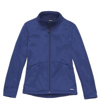 Wind resistant, fleece backed softshell jacket.