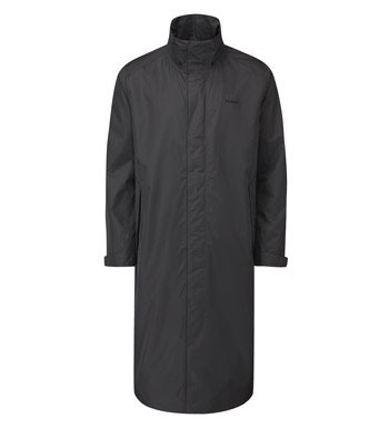 Waterproof, highly breathable calf-length mac.