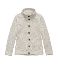 Casual but highly technical fleece cardigan.